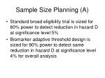 sample size planning a