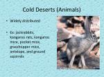 cold deserts animals