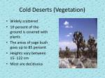 cold deserts vegetation