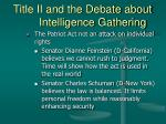 title ii and the debate about intelligence gathering18