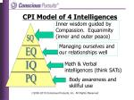 cpi model of 4 intelligences