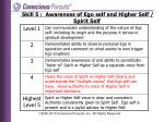 skill 5 awareness of ego self and higher self spirit self