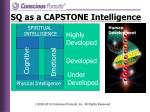 sq as a capstone intelligence