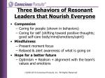 three behaviors of resonant leaders that nourish everyone