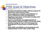 planning division fy06 goals objectives