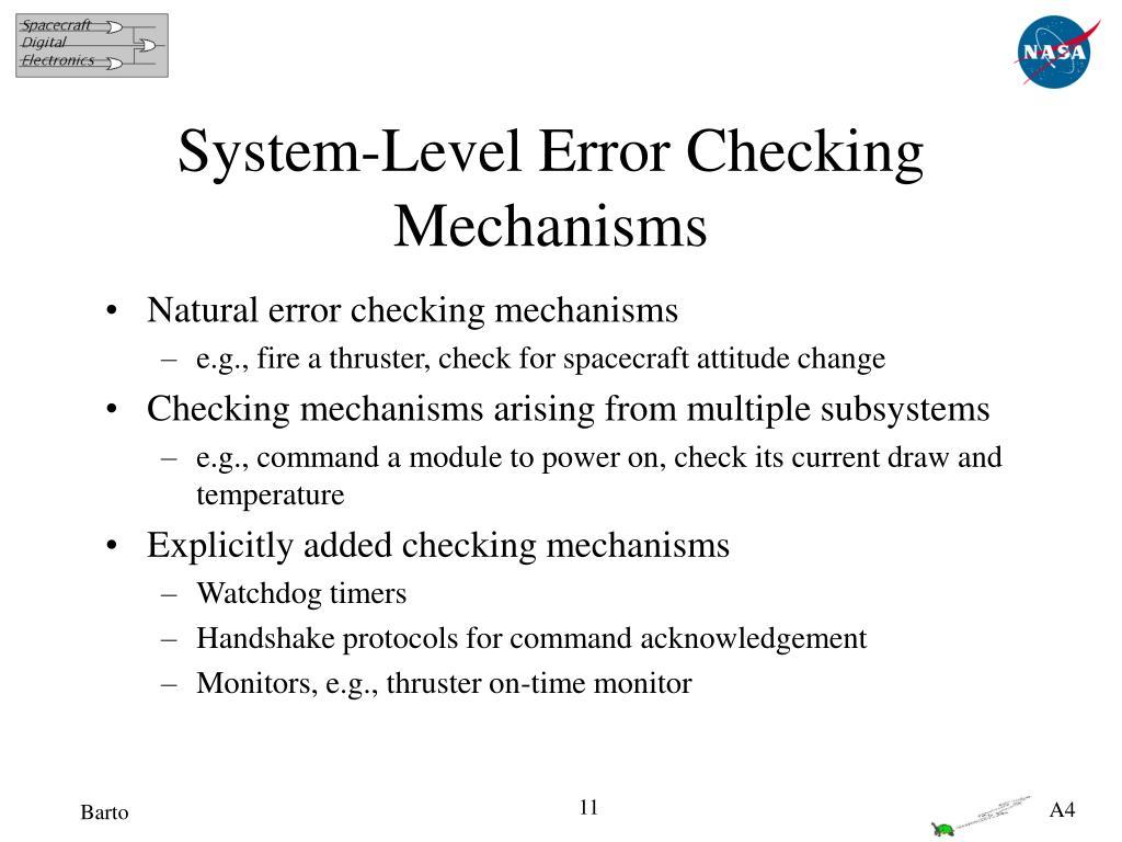 System-Level Error Checking Mechanisms