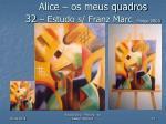 alice os meus quadros 32 estudo s franz marc mar o 2003