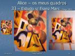 alice os meus quadros 33 estudo s franz marc mar o 2003