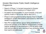 greater manchester public health intelligence programme