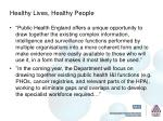 healthy lives healthy people