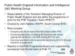 public health england information and intelligence i i working group