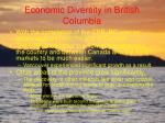 economic diversity in british columbia