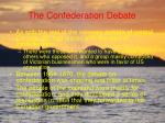 the confederation debate