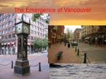 the emergence of vancouver51