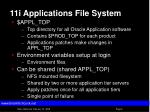 11i applications file system