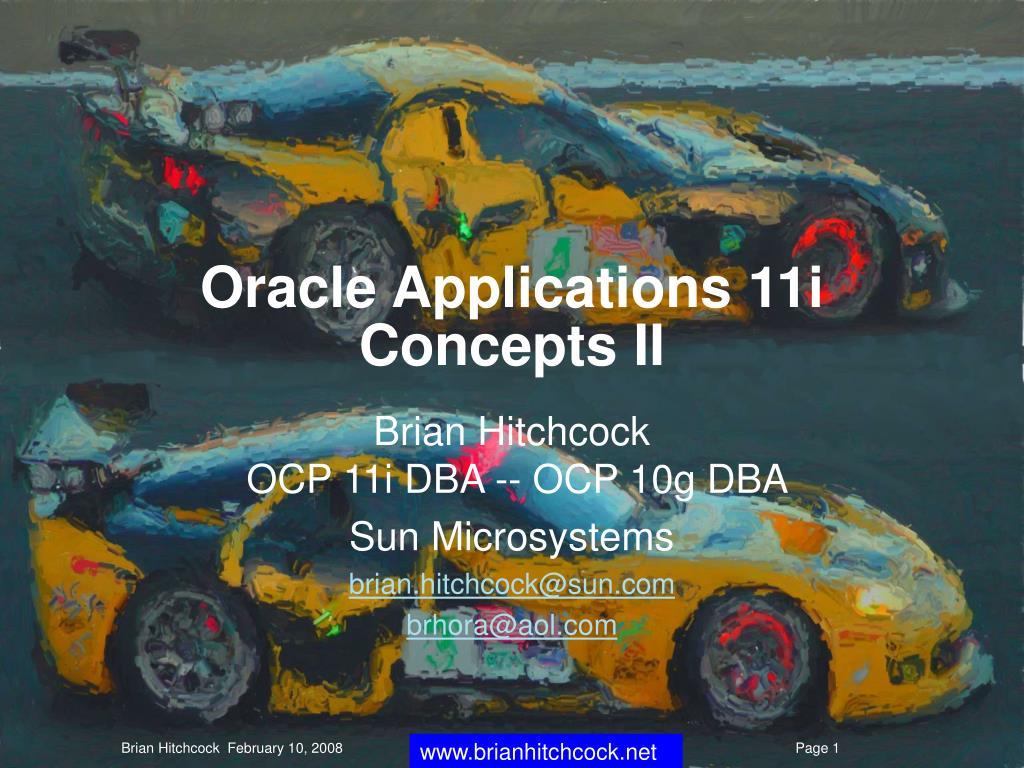 oracle applications 11i concepts ii l.