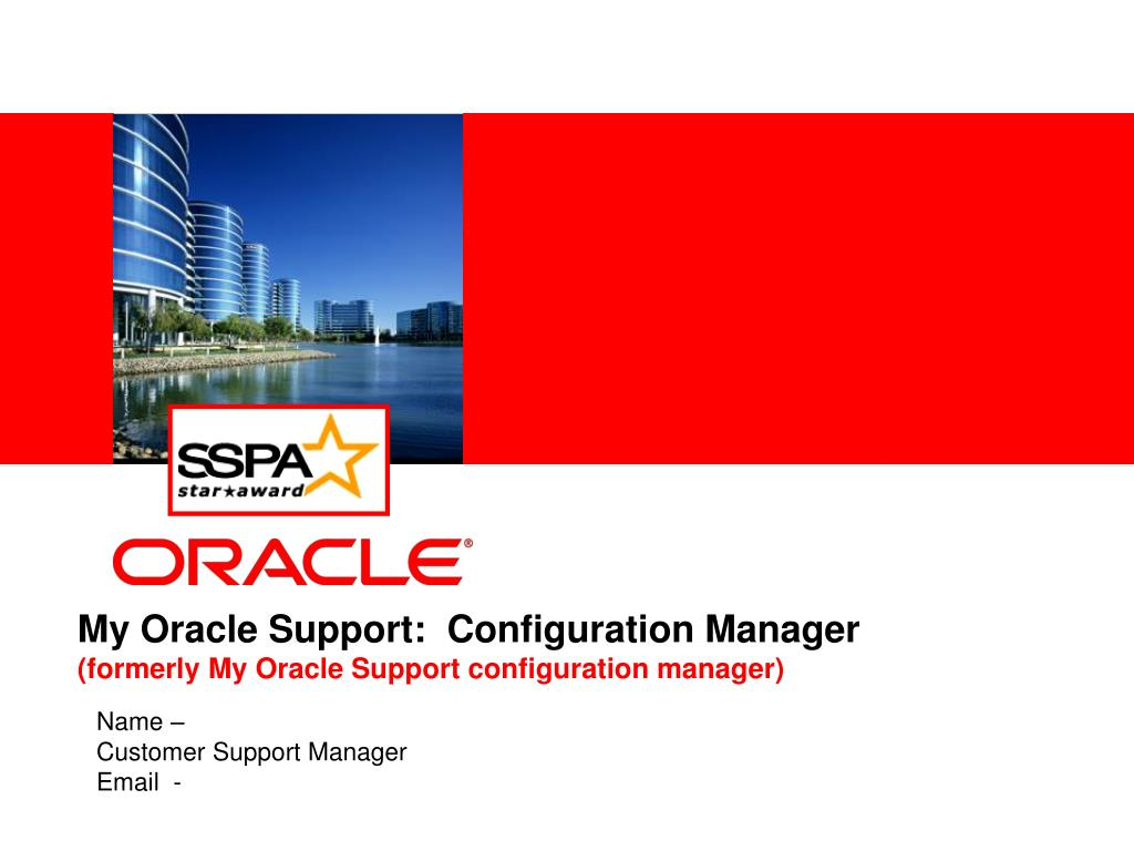 my oracle support configuration manager formerly my oracle support configuration manager l.