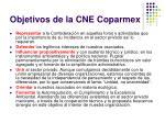 objetivos de la cne coparmex