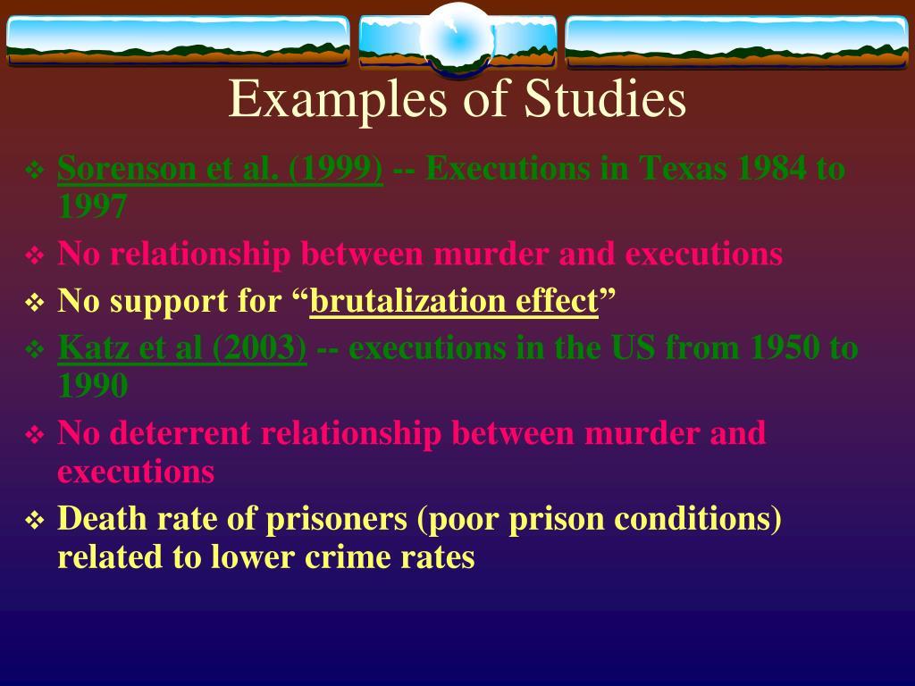 Examples of Studies