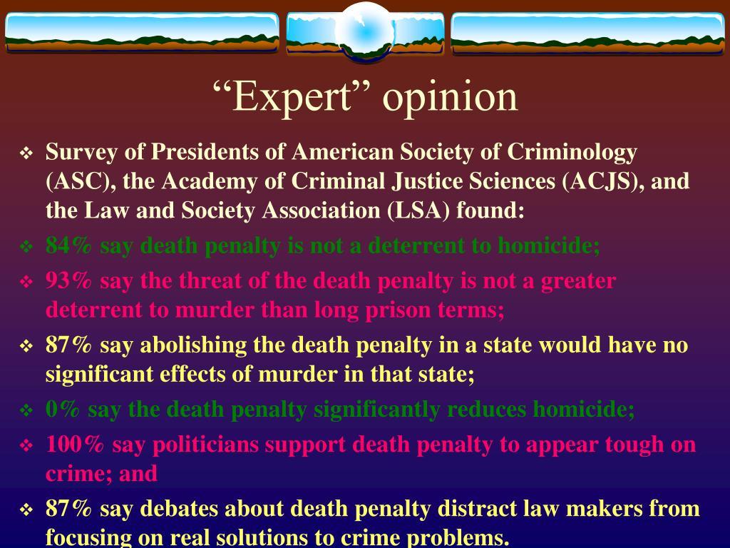 """Expert"" opinion"