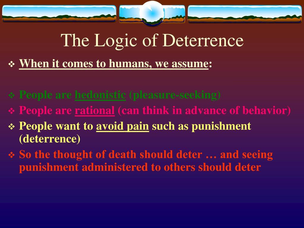 The Logic of Deterrence