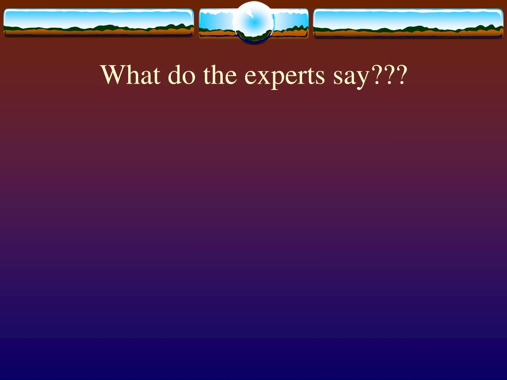 What do the experts say???