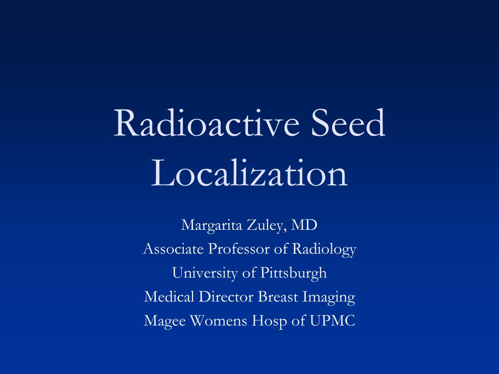 radioactive seed localization l.