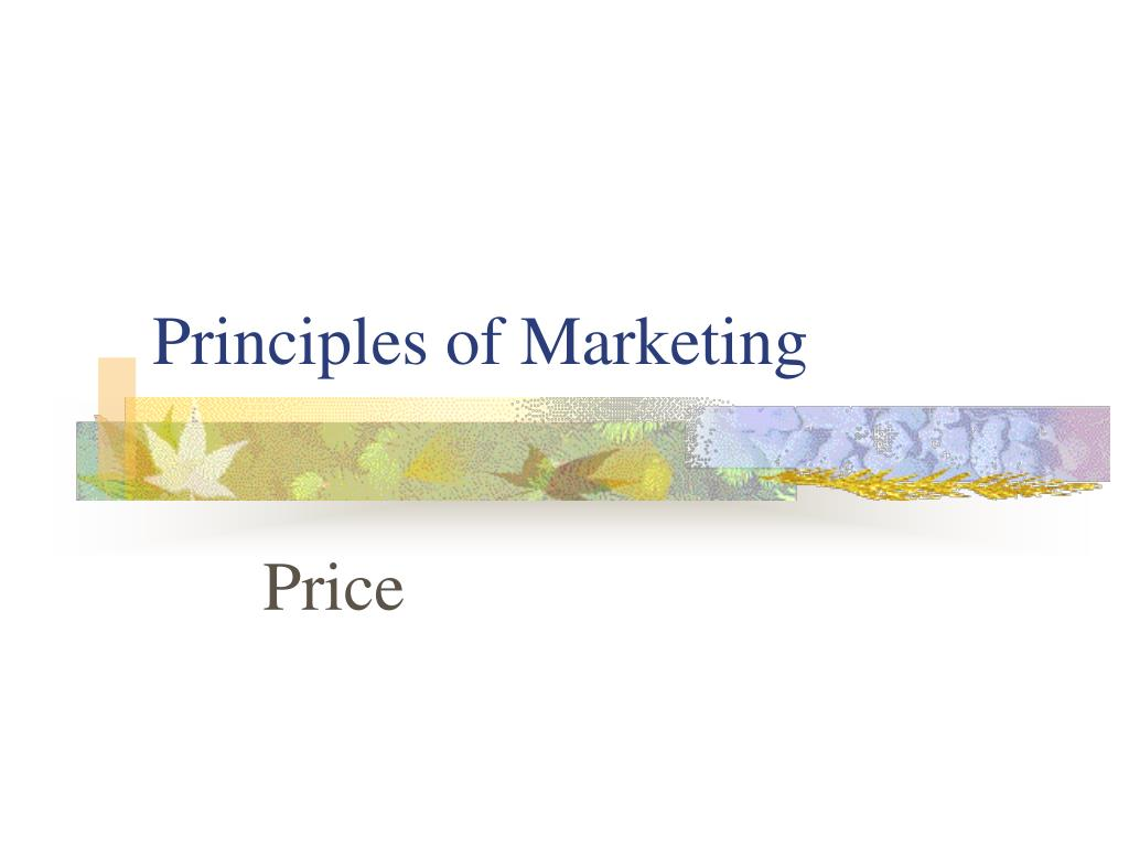 principles of marketing l.