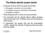 the swiss electric power sector