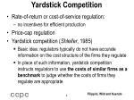 yardstick competition
