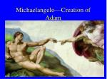 michaelangelo creation of adam