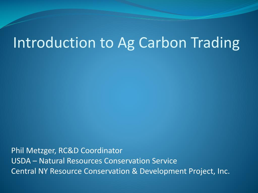 introduction to ag carbon trading l.