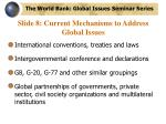 slide 8 current mechanisms to address global issues