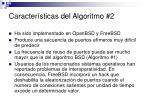 caracter sticas del algoritmo 2