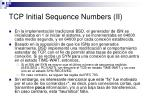 tcp initial sequence numbers ii