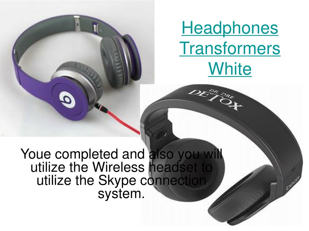 headphones transformers white l.