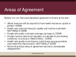 areas of agreement