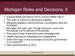 michigan roles and decisions ii