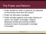 the public and reform
