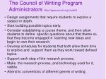 the council of writing program administrators http wpacouncil org node 922