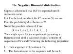 the negative binomial distribution