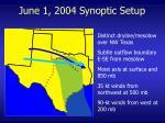 june 1 2004 synoptic setup