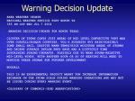 warning decision update