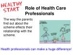 health professionals can make a huge difference