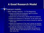 a good research model43