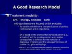 a good research model46
