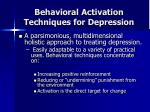 behavioral activation techniques for depression