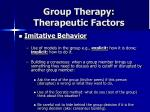 group therapy therapeutic factors27