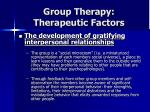 group therapy therapeutic factors28