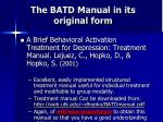 the batd manual in its original form